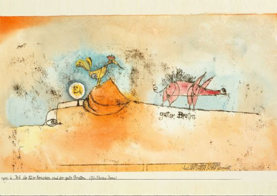 Klee, Paul: Where the Eggs and the Good Roast Come From. Fine Art Print/Poster (4981)